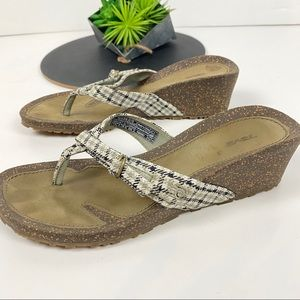 Teva Thong Sandals Check Gingham Size 7